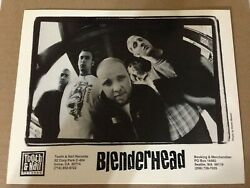 Blenderhead 8x10 Glossy Photo Vinyl Lp/cd Promo Tooth And Nail Records Punk Rock
