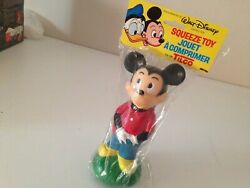 Walt Disney Character Squeeze Toy Mickey Mouse Coin Bank 1973 Tilco Canada New