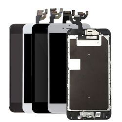 For Iphone 8 7 6 6s Plus Lcd Display Screen Replacement Home Button Camera Speak