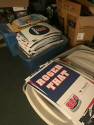 HUGE 1500 +POSTERS AND 2 SIDED SIGNS BOSTON  SPORTS TEAMS ONLY ROSTERS PACKAGE