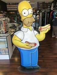 """The Simpsons The Movie 2007 Life Size 6"""" Store Display Statue Homer 1 Of 10"""