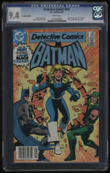 Detective Comics 554 Cgc 9.4 White Pg Canadian Edition Black Canary New Costume
