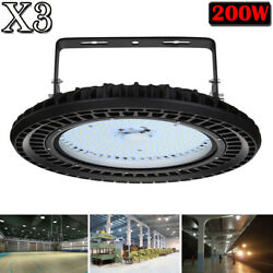3X 200W UFO LED High Bay Light Factory Warehouse Industrial Shed Shop Lighting
