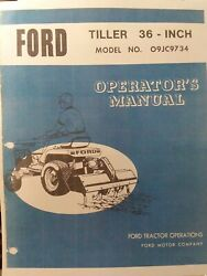 Ford Lgt 125 145 165 Tractor Tiller And Rear Pto And Kits Owner And Parts 5 Manual S