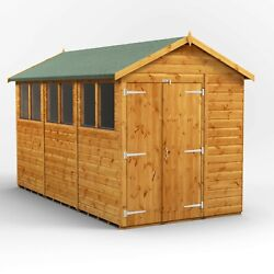 Power Apex Garden Shed | Power Sheds | Wooden Workshop | Sizes 12x6 Up To 20x6