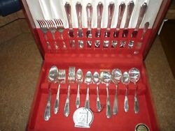 51 Pc Wm Rogers Mfg Co Extra Plated Silverplate Flatware 61 St Anniversary