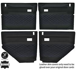 Purple Diamond Stitch 4x Door Card Leather Covers For Land Rover Defender 90 110