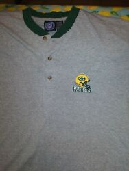 Nfl Green Bay Packers Football Gray T Shirt Sz Large Wisconsin Cheese Head 🧀
