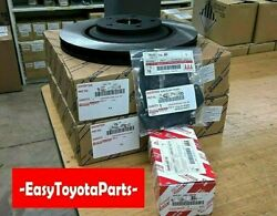 Sienna Front and Rear Brake Kit Rotors,Pads,and Shims  2010-2020      OEM Toyota