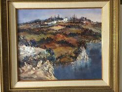 Christophe Charppides French, 1902-1992 Original Oil Painting On Canvas