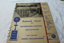 Rare18th Annual 1951 Walthers 'o' Gauge Catalog And Reference Manual,