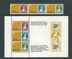 1980 125th Anniversary of 1st NZ Stamp set 3 & Mini Sheet  MNH/MUH as Issued