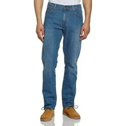 Wrangler Mens Extra Tall Stretch Midused Blue Jeans Wonderyear