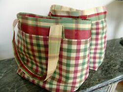 REDUCED! SET of TWO French Country Style Tote Bags ~ High-End Designer Fabrics