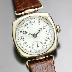 Rare Rolex Military Watch   Sterling Silver Ca1940s