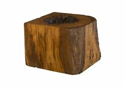 24 Long Coffee Table Wood Cube Dark Brown Wood Smooth Finish 1399