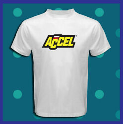 ACCEL Ignition Coils Spark Plug Holley Logo Men's White T-Shirt S M L XL 2X