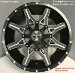 4 Cali Off-Road Obnoxious 20x9 8x180 0mm BlackMilled Wheels Rims 20