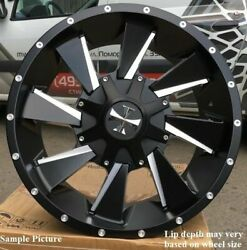 4 Cali Off-Road Distorted 20x9 5x150 0mm BlackMilled Wheels Rims 20