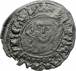 1312 Spain Spanish Kingdom Catille And Leon King Alfonso Xi Medieval Coin I79921