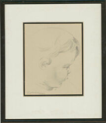 Edward Morgan 1933-2009 - Signed 20th Century Graphite Drawing, Childs Face