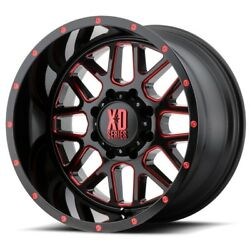20 Inch Black Red Wheels Rims Lifted Chevy 2500 3500 Dodge Ram Truck 20x12 Xd