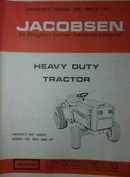 Jacobsen 53500 Hd 195 Super Lawn Garden Tractor Owner Manual 19.5 Ford Homelite