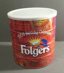 Folgers 150th Birthday Celebration Coffee Can - Large Can Unopened Inside