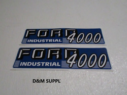 Industrial Tractor Hood Decal Set To Fit Ford 4000 1115-1589