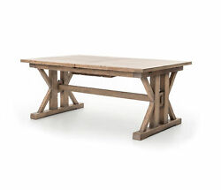 96 L Giusto Spring Extension Dining Table Reclaimed Pine Sun Dried Wheat Finish