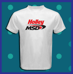 Holley MSD Logo Ignition Boxes Coils Spark  Men's White T-Shirt S M L XL 2XL 3XL