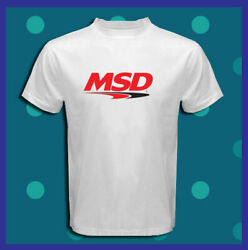 MSD Logo Ignition Coils Car Holley NEW Men's White T-Shirt S M L XL 2XL 3XL