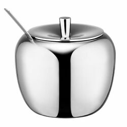 Eco-friendly Apple Sugars And Creamers Containers Stainless Steel Condiments Pot