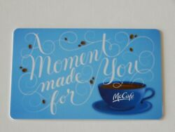 Mcdonaldand039s A Moment Made For You Blue Gift Card No Value