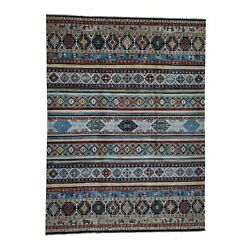 10and0391x13and0396 Super Kazak Khorjin Design Hand-knotted Pure Wool Rug R41889