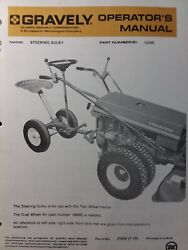 Gravely Walk-behind Garden Tractor Steering Sulky 15590 Owner And Parts Manual