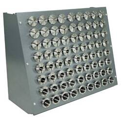 72 Pc. Precision Inch 5-c Collet Set W/rack, 1/64″ To 1-1/8 1/64th Sizes 5 C