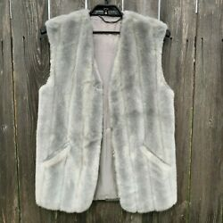 Jolipel Faux Fur Vegan Mink Vest Light Gray Sleeveless Germany Women's Size M 38