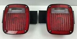 Grote 5370 And 5371 Tail Light Set W/ Brackets Trailer Truck Chassis Take-offs