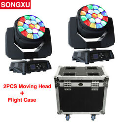 Flight Case 2in1 19x15w Rgbw 4in1 Bees Eyes Big Eyes Moving Head Light With Zoom