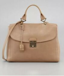 Marc Jacobs Beige Leather Purse Gold Key Handbag New With Tags 1495