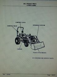Kubota La302 Loader Diesel 4x4 Farm Tractor Parts Manual Compact Agriculture