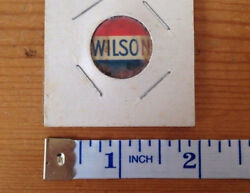 Vintge Antique Woodrow Wilson Presidential Campaign Button Pinback Red White Blu