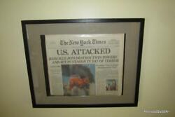 Framed And Vacuum Sealed 2001 New York Times 9 11 01 Newspaper Ny 12 September