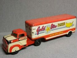Marx Gold Star Transfer Company Truck And Trailer Excellent Condition