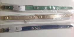New Hartman And Rose Dog Collar 18-20 Italian Leather And Hardware Various Designs