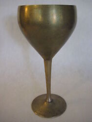 Vintage Leonard E.p.n.s Silverplate Goblet 7 1/2 Tall And 3 3/4 Widest