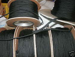 3/8 Braided Nylon Sleeving Black. Techflex 25 Ft.