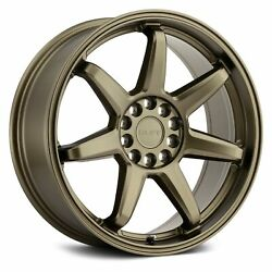 Ruff Racing SHIFT Wheels 17x7.5 (38, 5x114.3, 72.1) Bronze Rims Set of 4