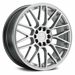 Ruff Racing OVERDRIVE Wheels 17x7.5 (38, 5x114.3, 72.1) Silver Rims Set of 4